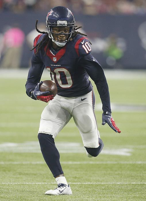 f2180b6e5 DeAndre Hopkins in action with the ball during a match between Houston  Texans and Indianapolis Colts on October 8