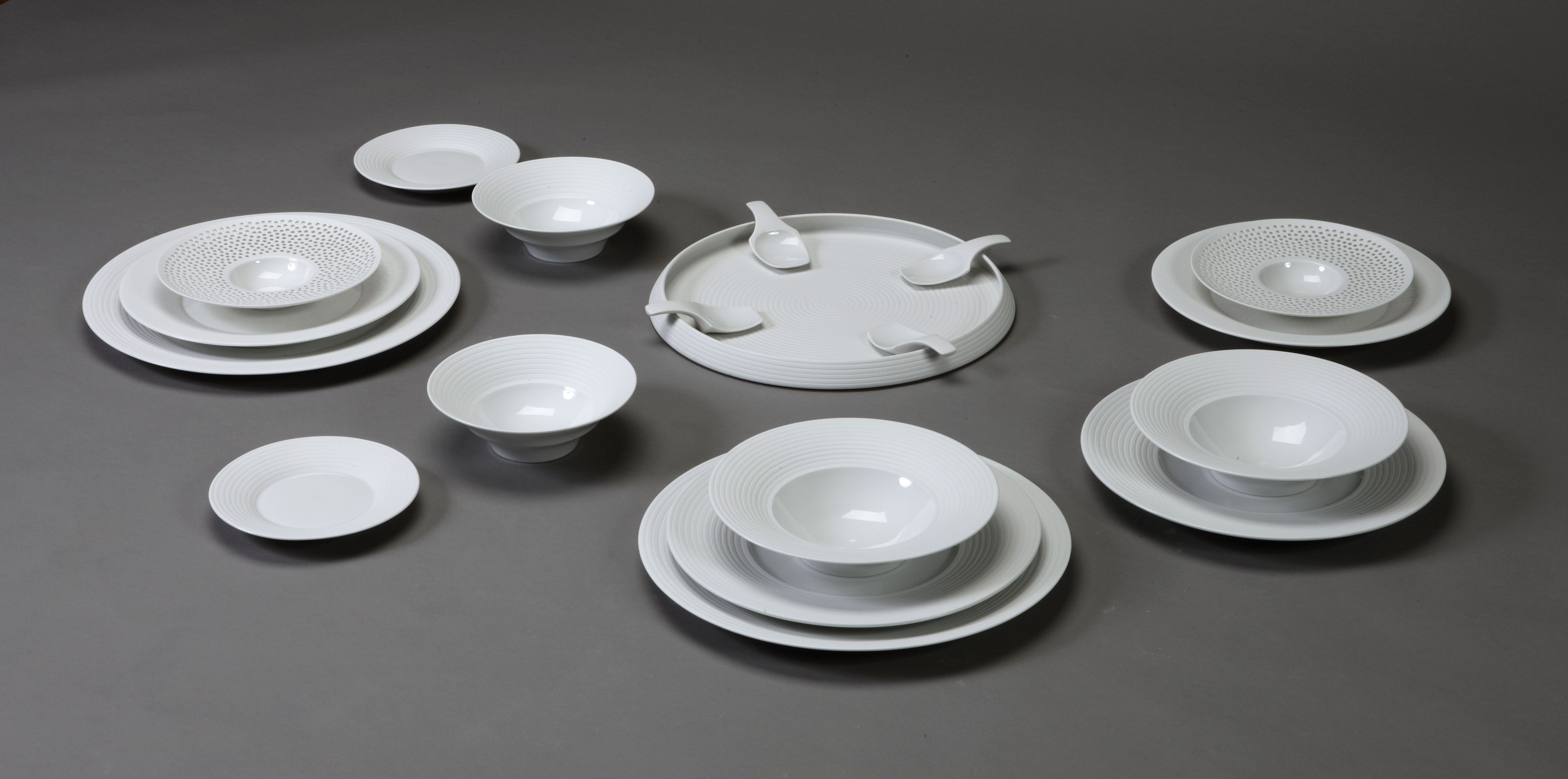 GICB2009 The International Competition/ <Gold Prize_Ceramics for use> Stefanie HERING ESSLINGER/Germany/ Fine dining-Pulse/2008/ Porcelain, jig and jolley, wax/130x85x15