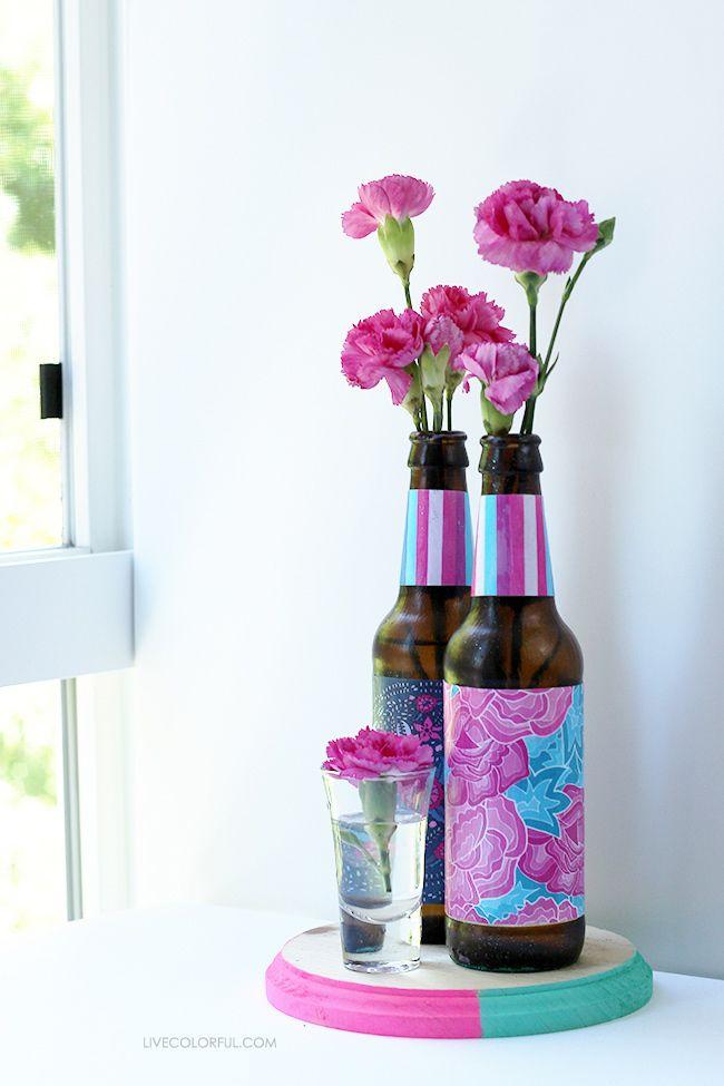 Recicla Y Decora Botellas De Vidrio Con Stickers Live Colorful Botellas De Vidrio Reciclar Para Decorar Botellas De Vidrio Recicladas