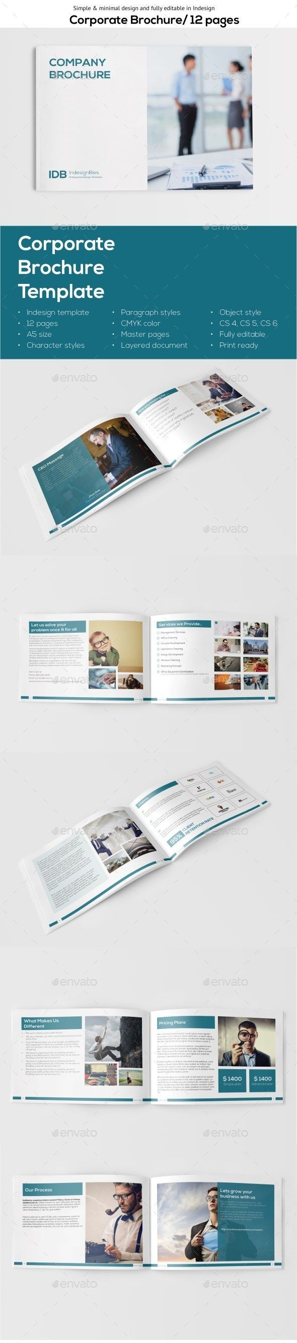 a5 landscape brochure template indesign indd download here httpgraphicriver