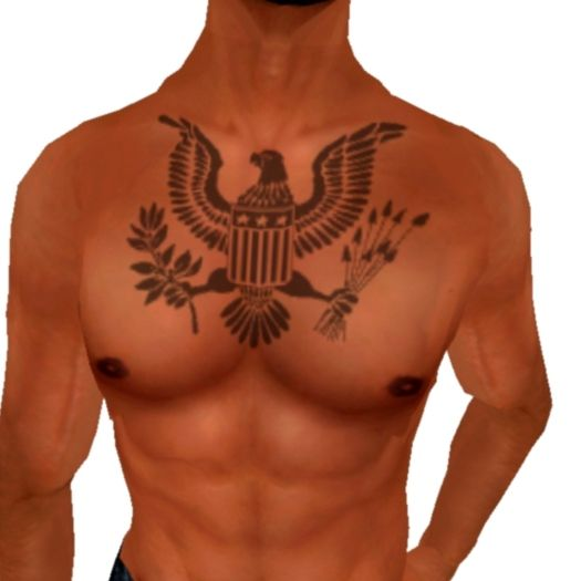 American Eagle Tattoo Much Smaller And On The Shoulder Beneath My