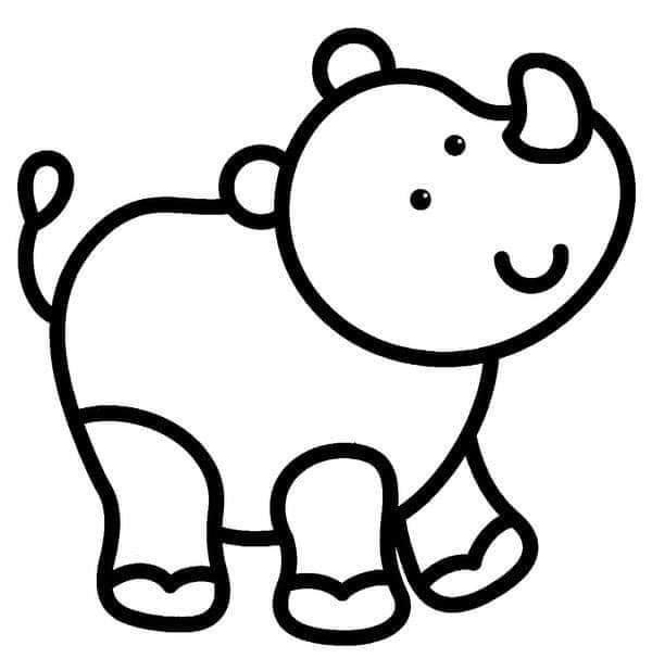 Tareitas Rinoceronte Para Colorear Plantillas De Animales Dibujos De Animales Actividades De Arte Para Preescolares