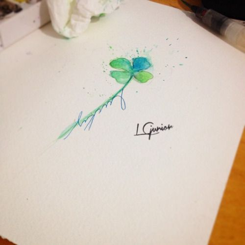 4 Leaf Clover Watercolor Tattoo Google Search Tatuajes