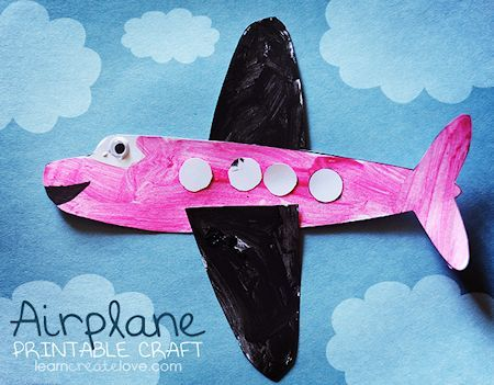 18 Airplane Crafts For Kids About Family Crafts With Images