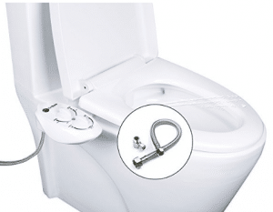 Non Electric Bidet Toilet Seat Attachment Dual Nozzle For