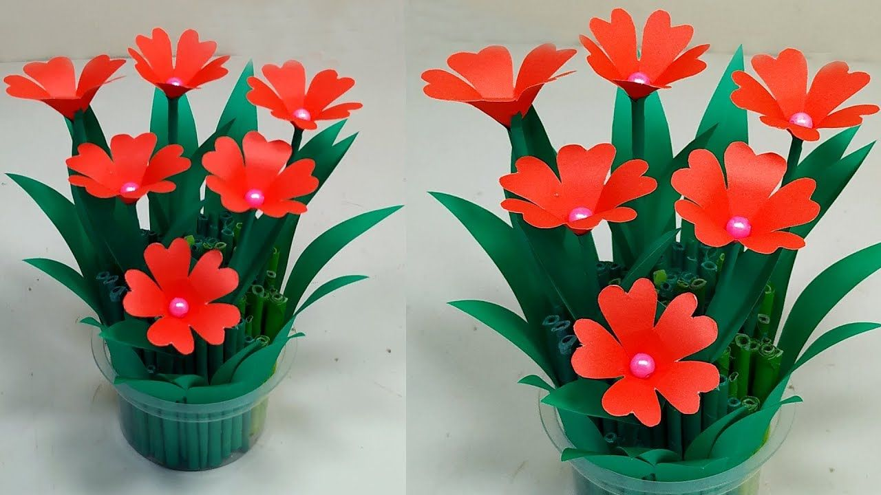 Diy Easy Paper Flower Bouquet Tutorial Table Decoration Flower Bouquet Paper Flowers Paper Flower Bouquet Paper Flower Bouquet Diy