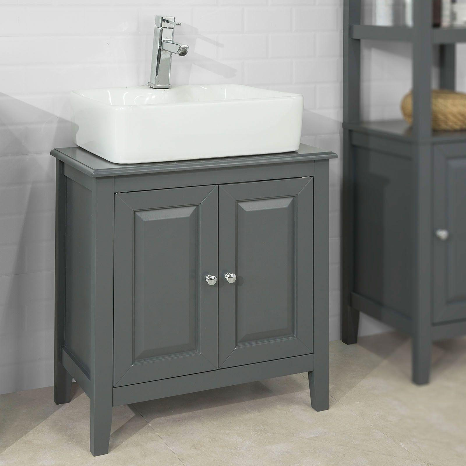 Mobile Sottolavabo Per Bagno Con 2 Ante Senza Lavabo L60 P30 A62cm Grigio Frg202 Dg Bathroom Vanity Vanity Bathroom