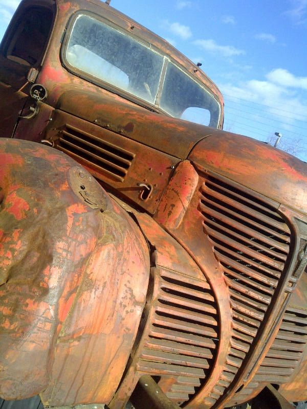 Rusting Truck in the Distillery District, Toronto