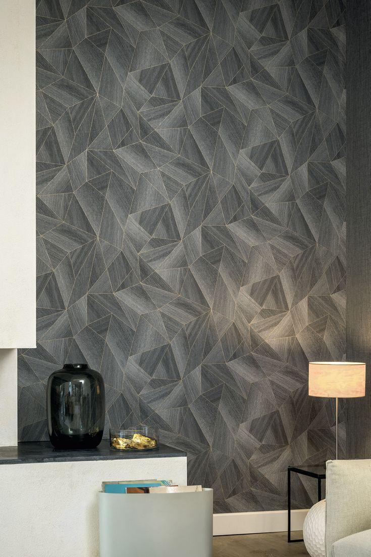 GroBartig Tapete Otavio Anthrazit   Metallische Polygone Bringen Schattenspiele Und  3D Optik In Ihr Wohnzimmer. Die