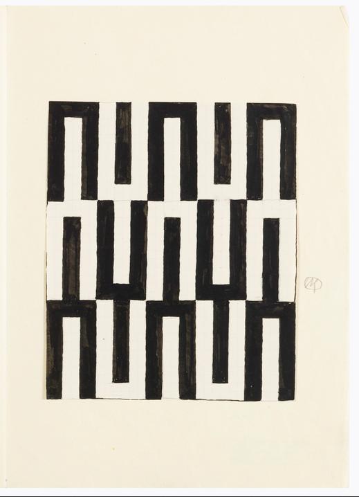 Textile designed by Josef Hoffmann