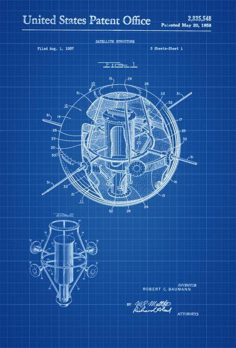 Satellite patent space art aviation art blueprint pilot gift satellite patent space art aviation art blueprint pilot malvernweather Choice Image
