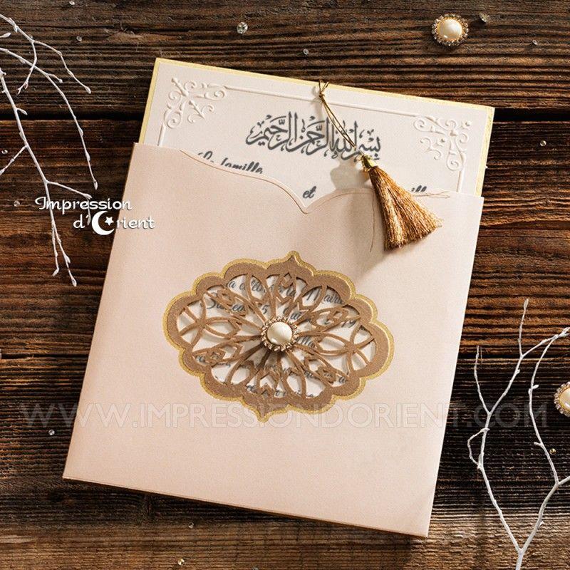 """Faire-part de mariage oriental. Modèle """"Ferial"""" disponible sur notre site Internet. Par …   – All the Packaging"""