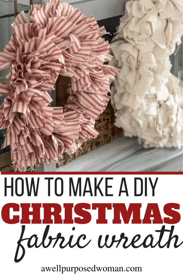 Photo of DIY Christmas fabric wreath & Christmas gift – A well-intentioned woman