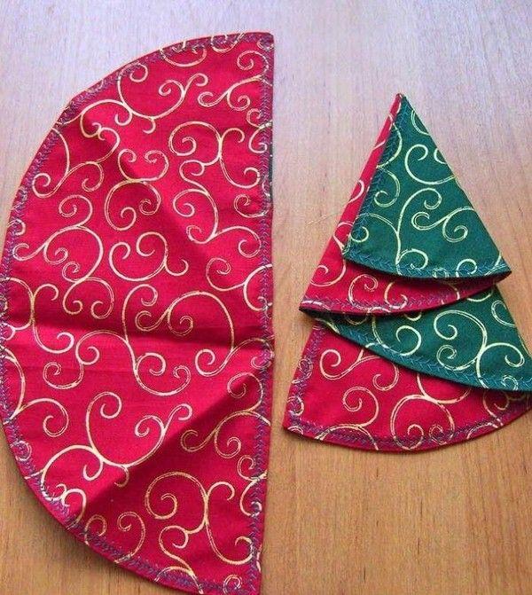 Christmas Napkin Folding Napkin Fabric Semicircular Red