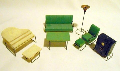 Lincoln Furniture   For The 20th Century Art Deco Doll House By George  Mundorfu2026 | Doll Houses...and Dollhouse Furniture | Pinterest