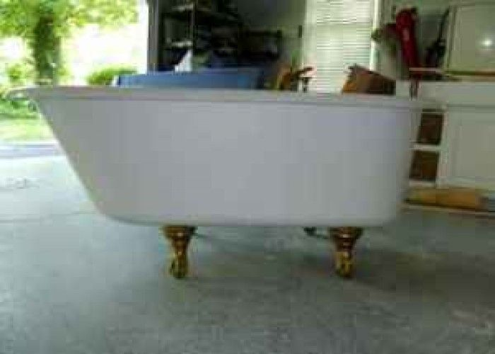 just learned you could get a clawfoot tub f/m salvage yard for $200
