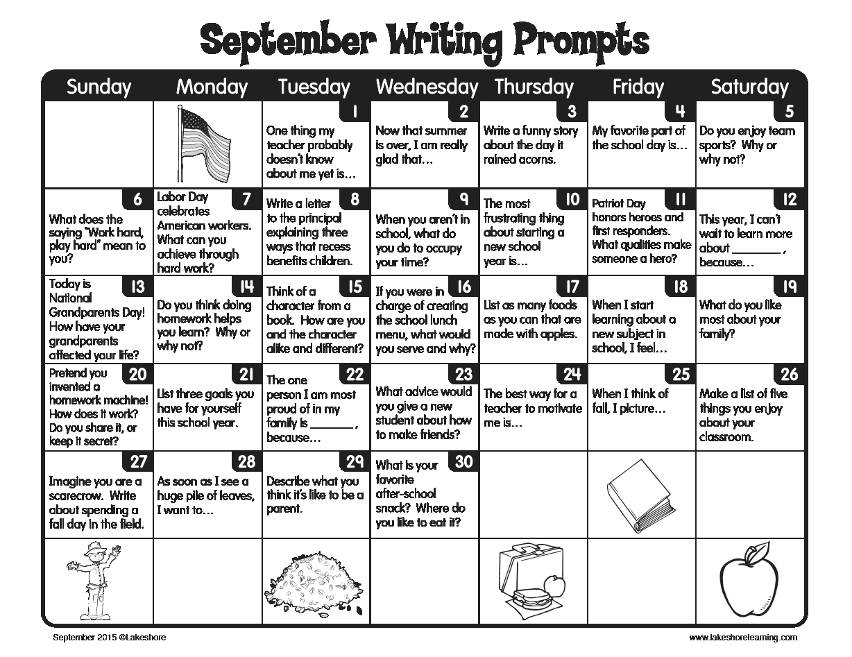 creative writing journal prompts for middle school This lesson contains ten analytic and creative journal prompts romeo & juliet journal prompts organization & instruction in the school setting west middle.