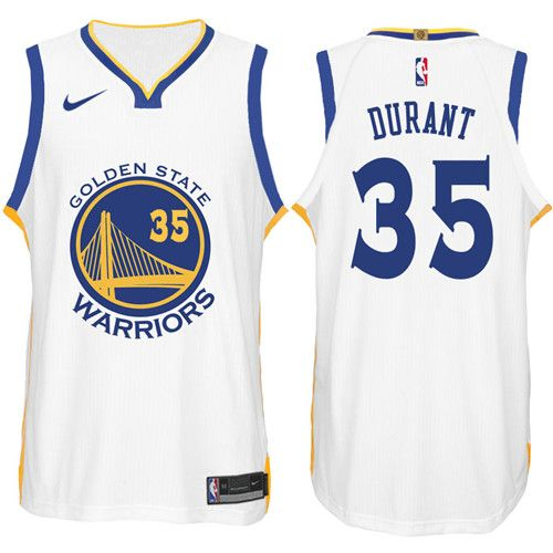 Nike NBA Golden State Warriors #35 Kevin Durant Jersey 2017-18 New Season  White