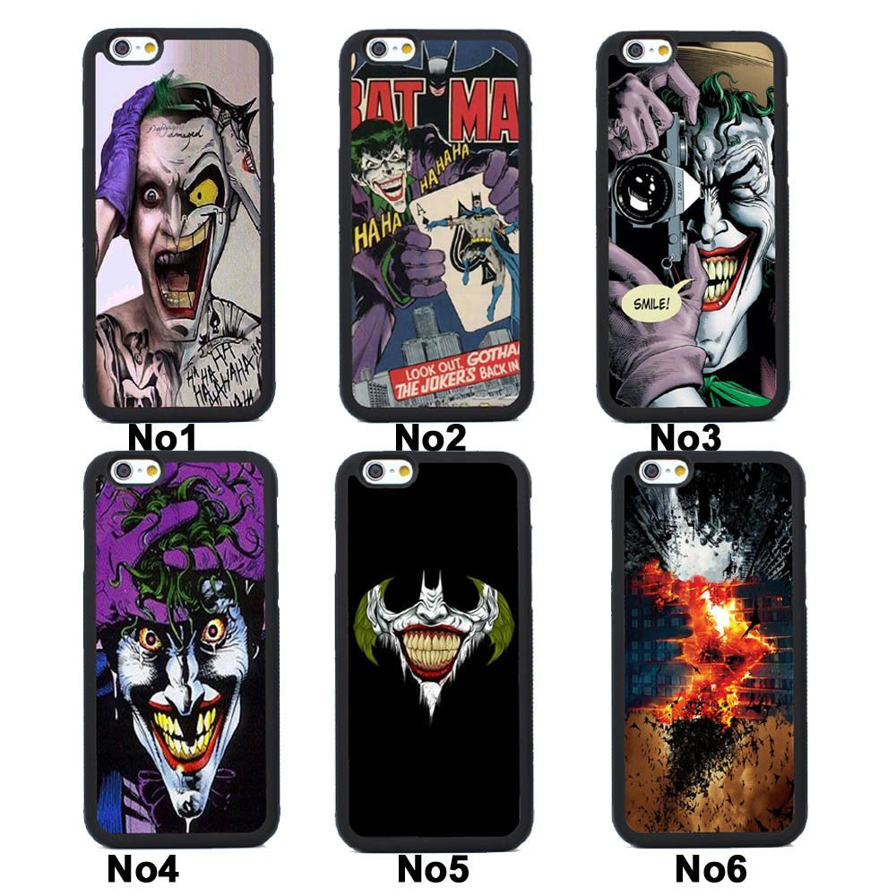 Batman Joker Silicone Case Cover for iPhone 4S 5 5S SE 5C 6 6S Plus 7…