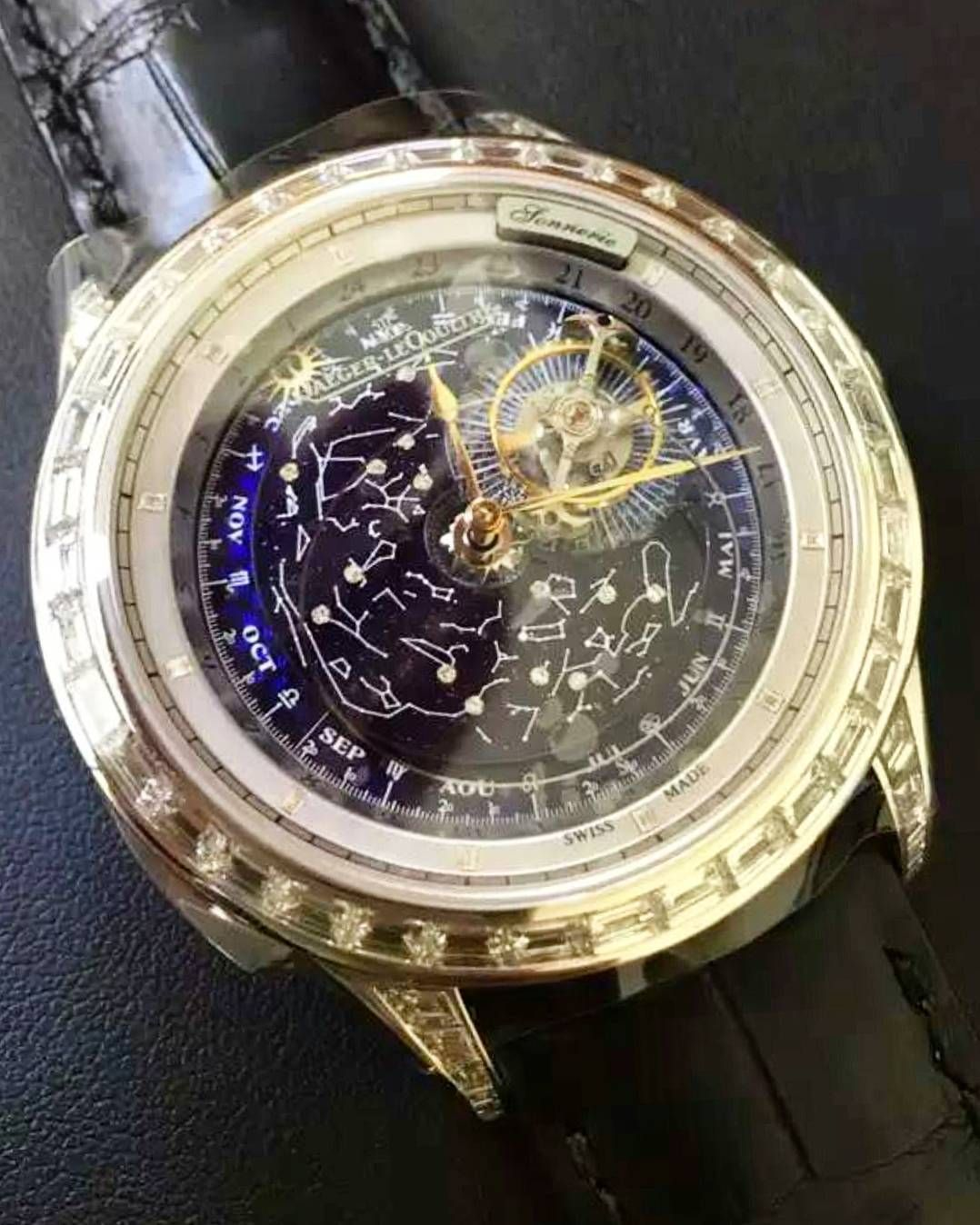Just past midnight here in Asia and got this sick photo from a buddy.. The baguette set Jaeger-LeCoultre master grande complications sky chart with minute repeater  by vc_limitededitions