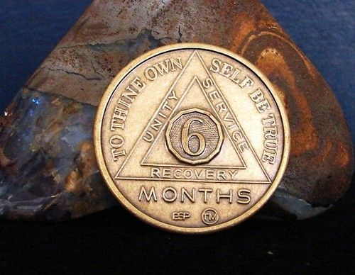 BRONZE REACH FOR THE STARS-RECOVERY CHIP SOBRIETY MEDALLION