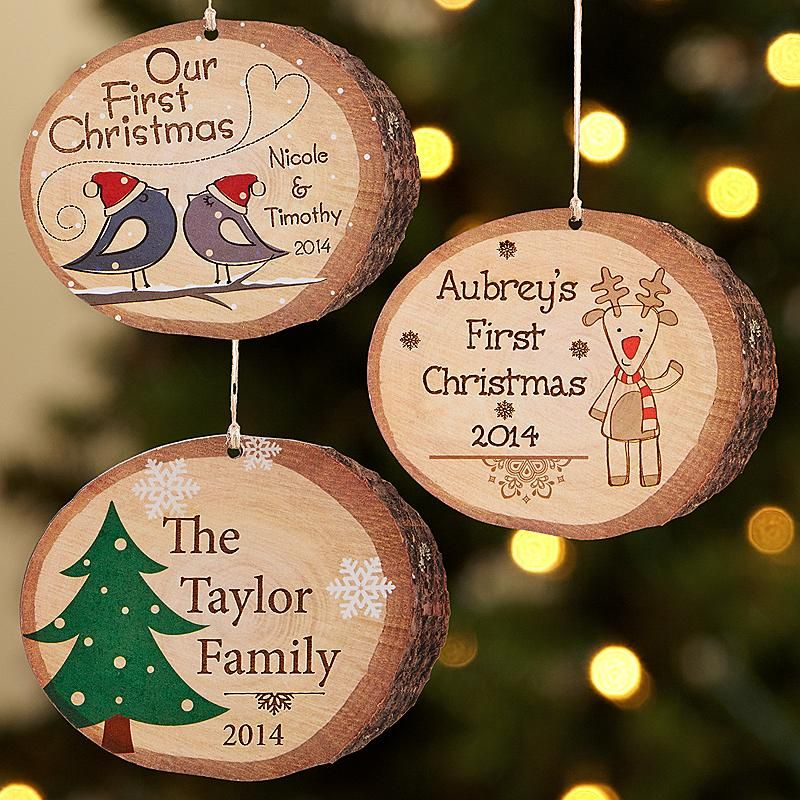 Country Christmas Birch Ornament - Certain to charm any nature lover, these unique ornaments use the natural beauty of birch as a backdrop for quaint holiday designs. Choose from Bird, House, Reindeer, Snowman or Christmas Tree.