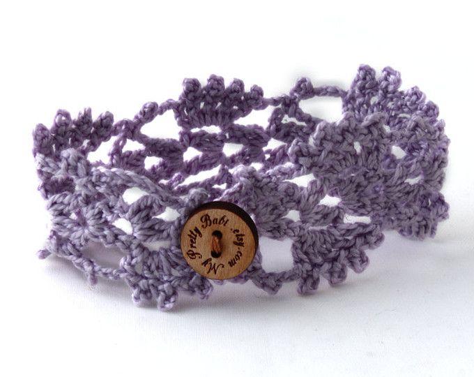 Crochet Bracelet Cuff, Beaded Bracelet Cuff, Crochet Jewelry ...