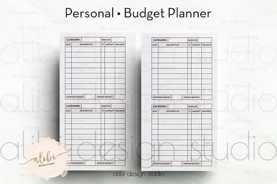 Personal, Cashless Envelope System, Budget Planner for Personal