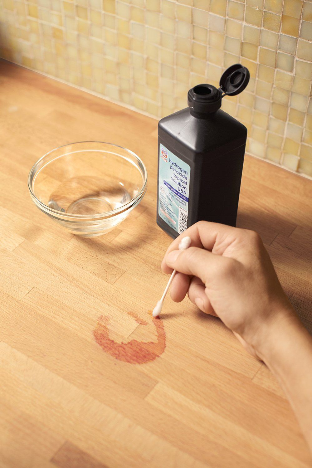 Restoring A Butcher Block Countertop Cleaning Hacks Wine Stain
