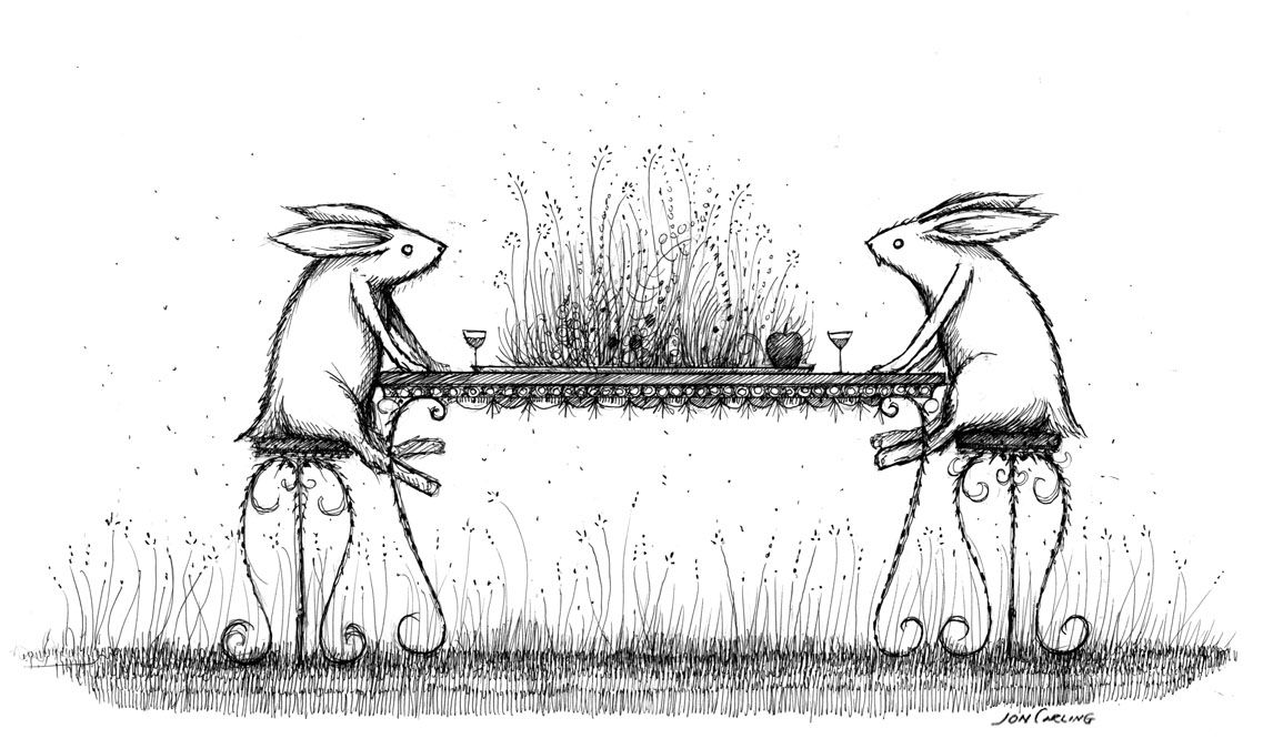 "joncarling: "" rabbit dinner """