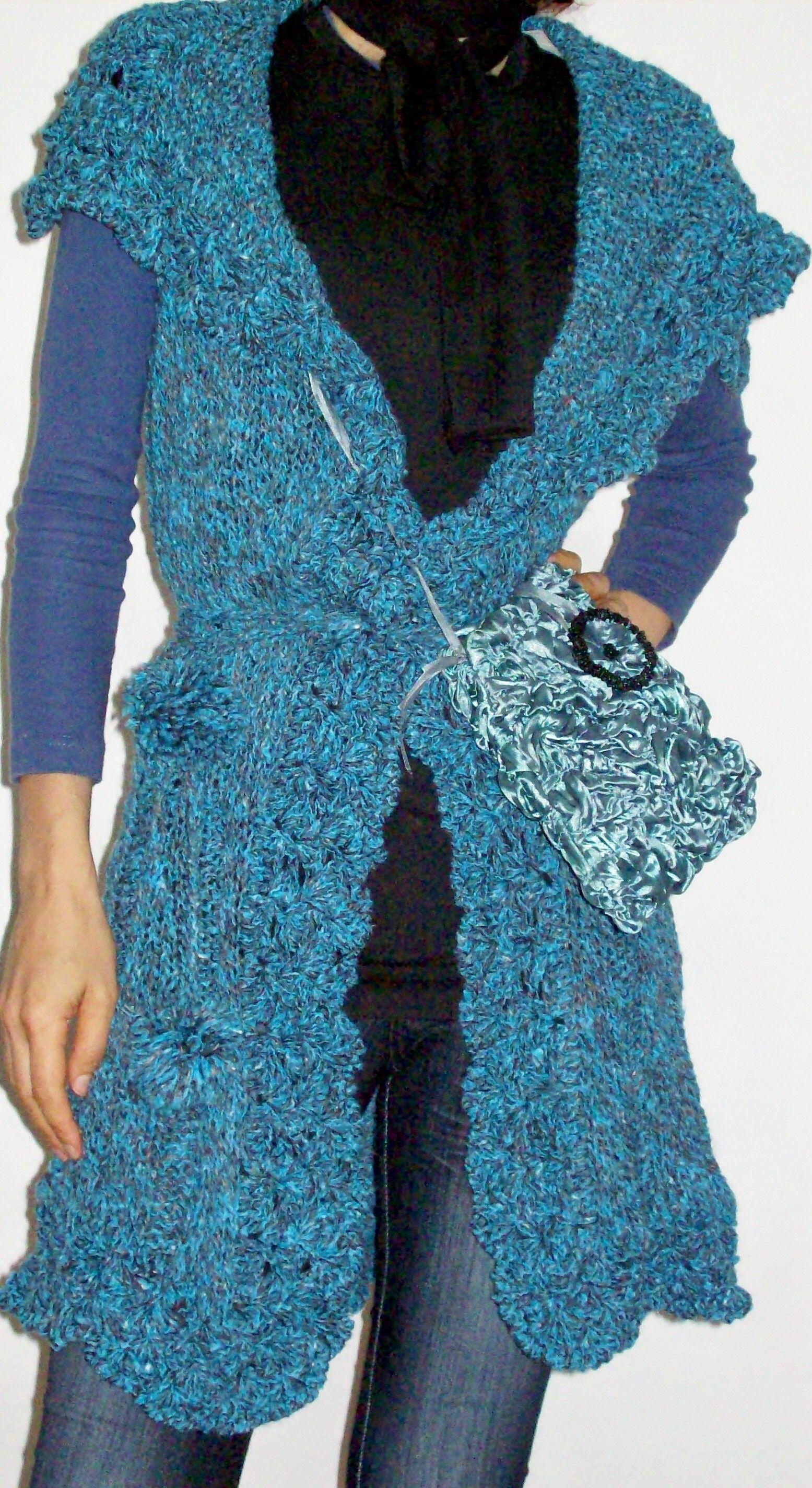Tapado con terminación crochet
