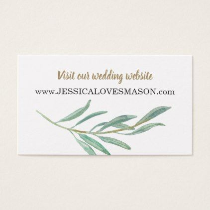 Rustic Greenery Wedding Website Insert Card - #customize create your
