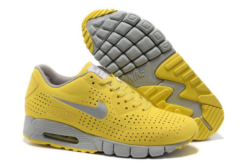 san francisco 237ee c63f1 Nike Air Max 90 Men Yellow Silver