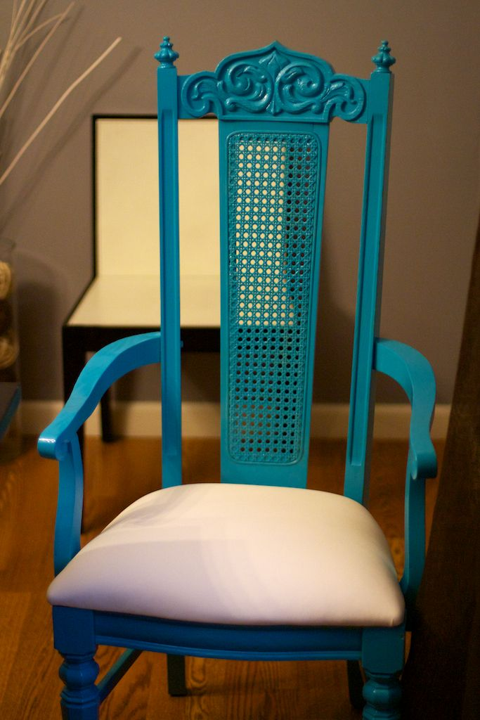 Upcycled Chair High Gloss Exotic Sea Spray Paint By Valspar