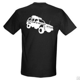Custom Jeep + Your GeoName T-Shirt  $20.00 USD    Cool large Jeep that you can have on the front or back of your black cotton T shirt.    Your Geocaching name or whatever you want to put right on the Jeep will make this a one of a kind shirt!  Put your home coordinates if you like.....    Please put your geocaching name, home coordinates, whatever you want on the shirt in the comment box when you go through the Check Out.