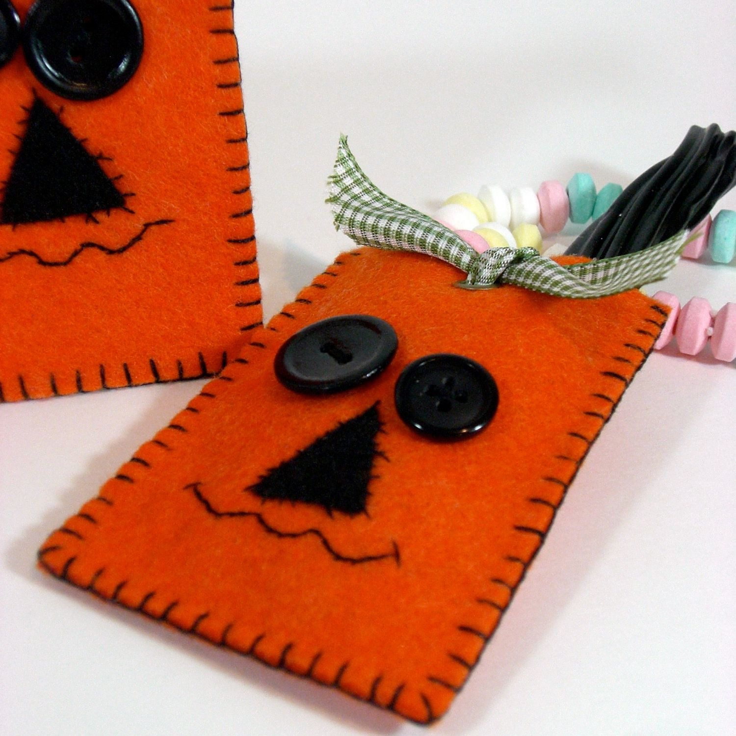 Etsy Transaction - Felt Halloween Pumpkin Candy Holder Party Favor