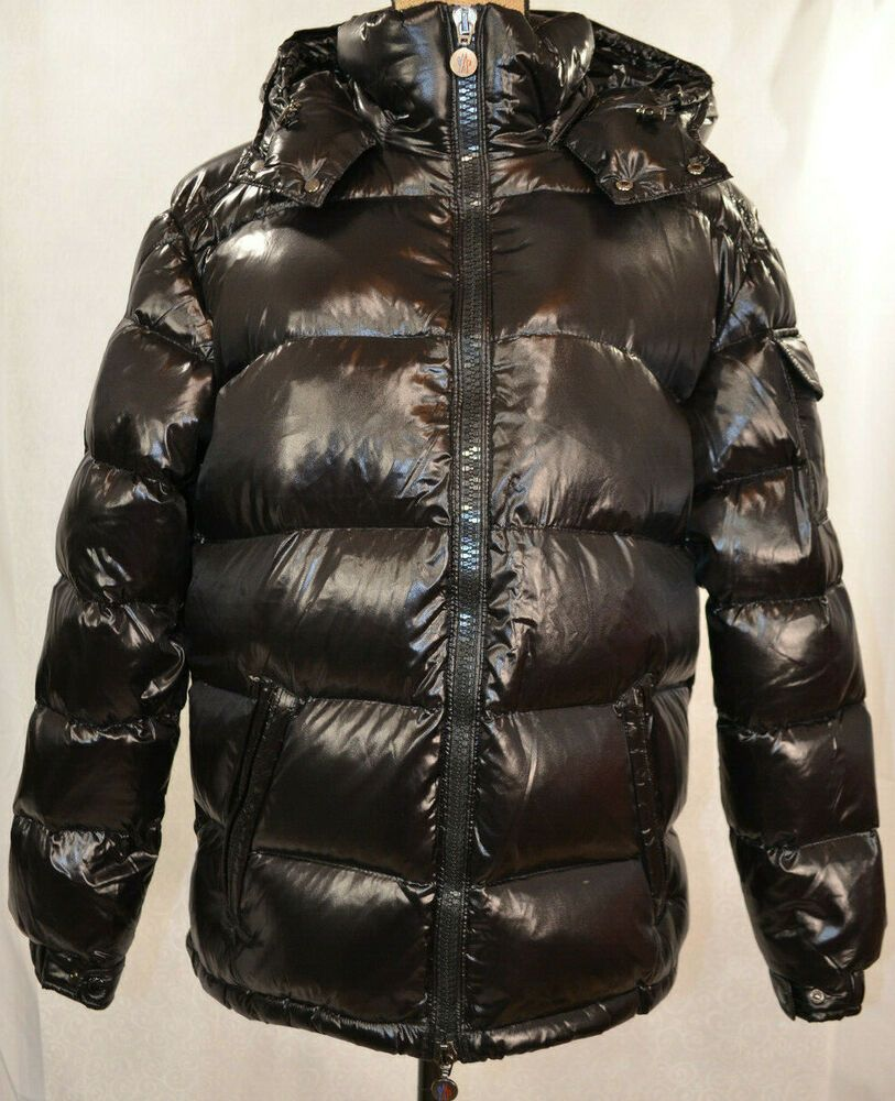 New Authentic Moncler Maya Shiny Puffer Jacket Nwt Black