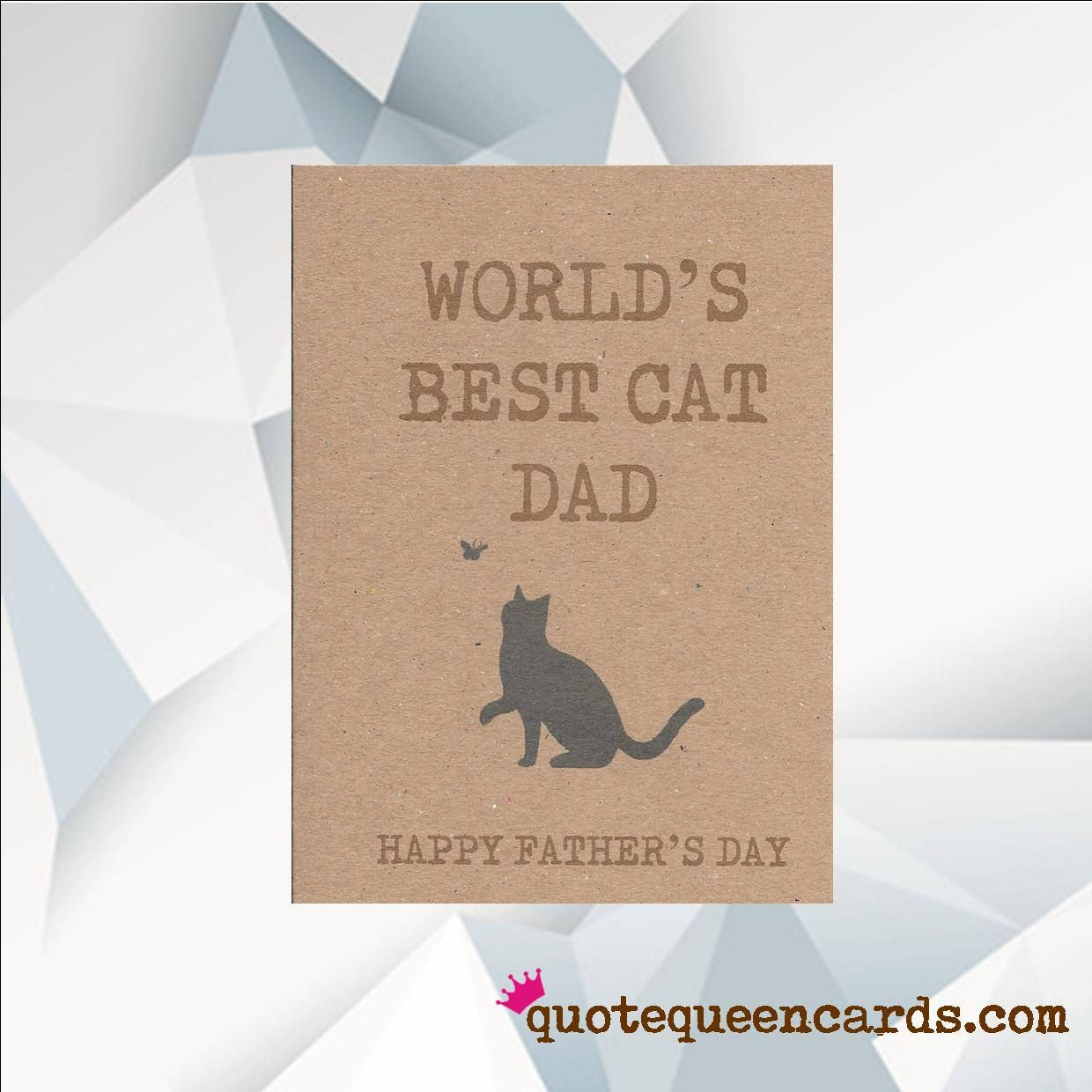 Worlds Best Cat Dad Happy Fathers Day Card Fathers Day Card From