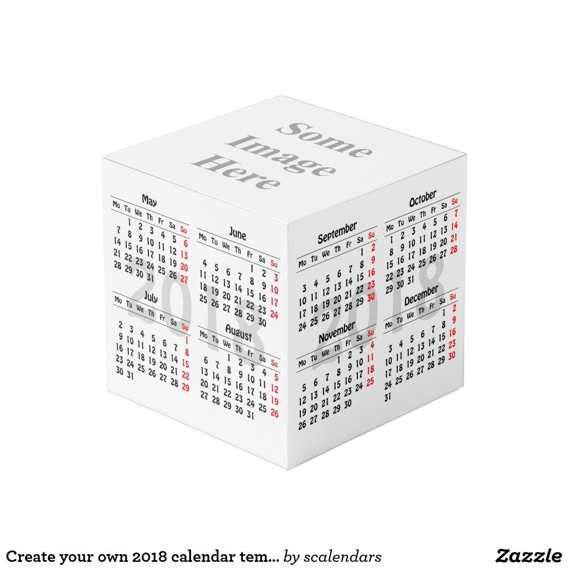 Create Your Own  Calendar Template Cube  Cube Template And