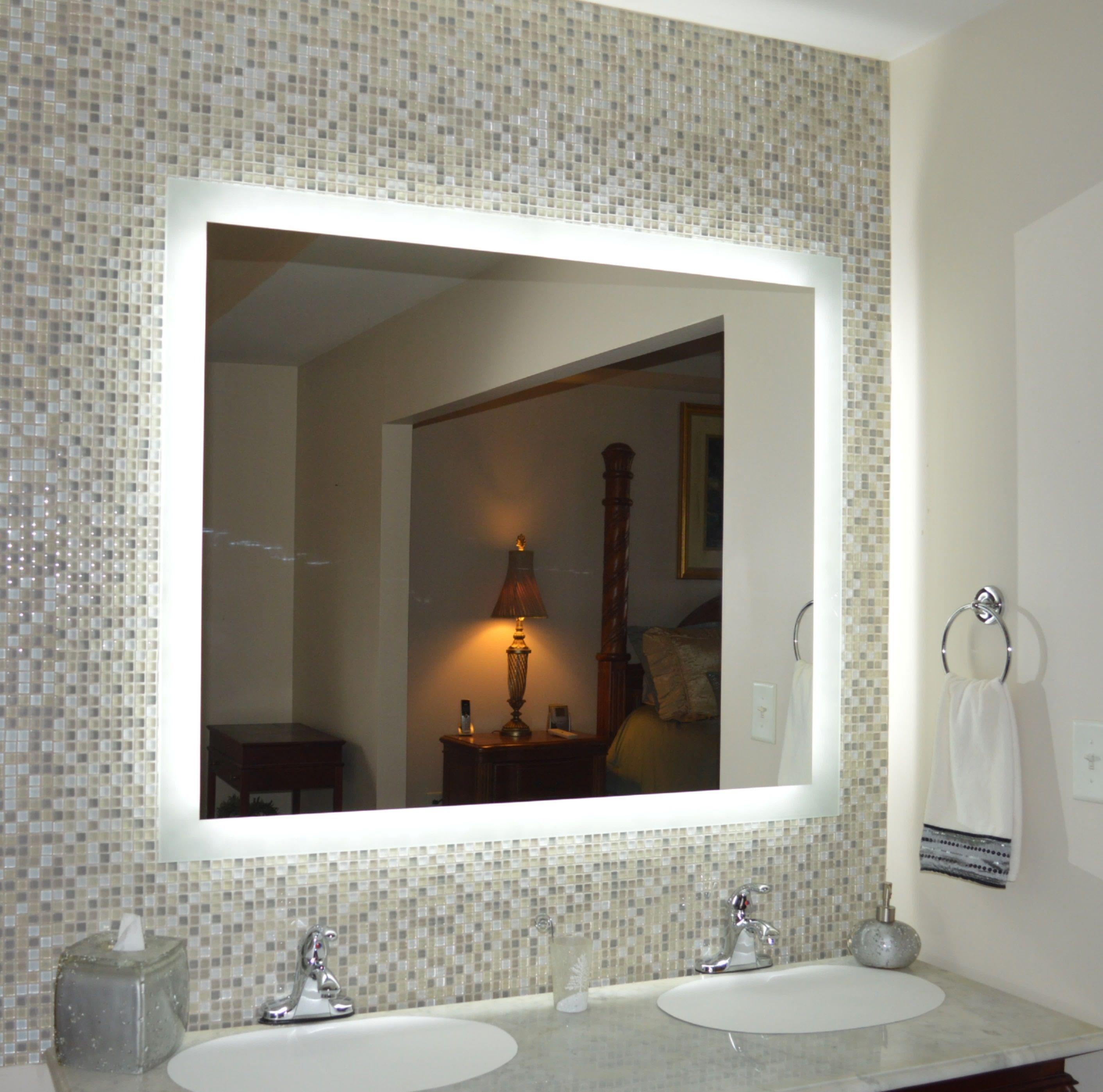 Side Lighted Led Bathroom Vanity Mirror 48 Elegant Bathroom Bathroom Mirror Design Led Mirror Bathroom