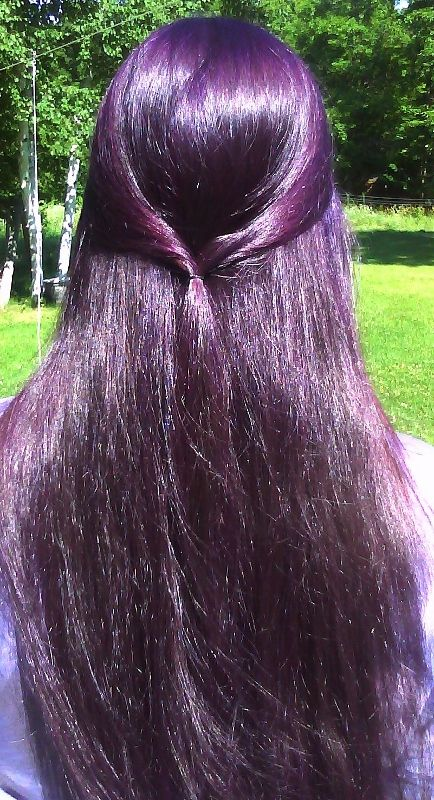 Dark Purple Can I Do This Without Bleaching My Hair Long
