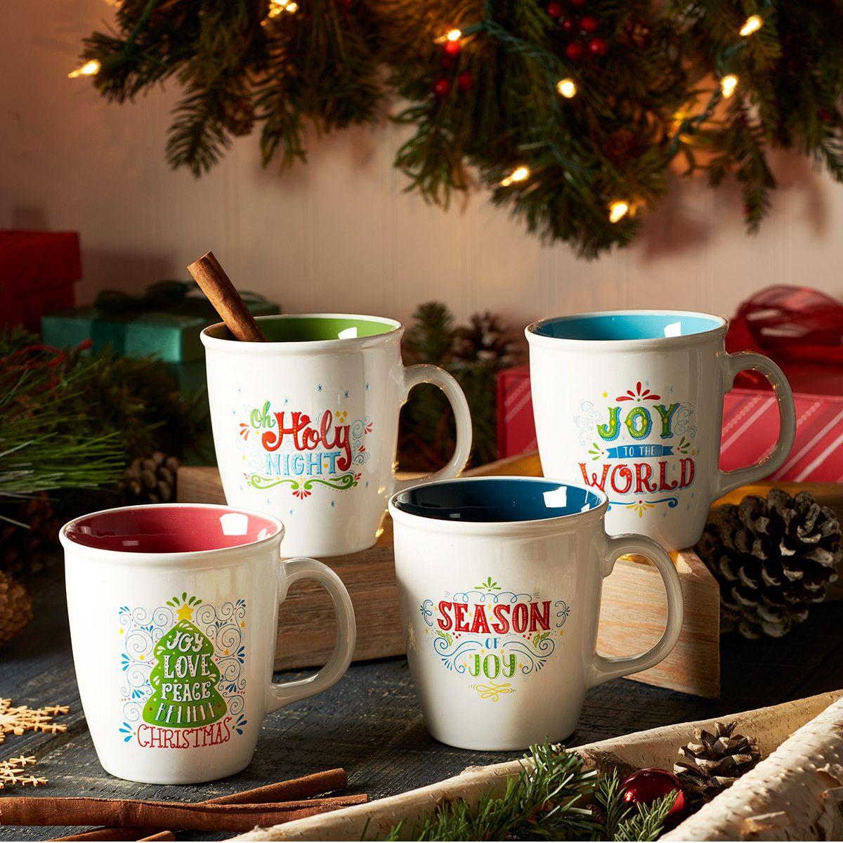 Christmas Mug Set Joy to the World Christian Art Gifts