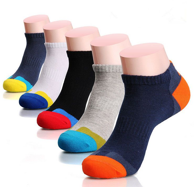 54ee03859a48 5 Pairs Mens Sport Cotton Socks Lot Crew Ankle Low Cut Casual Dress Socks  9-12