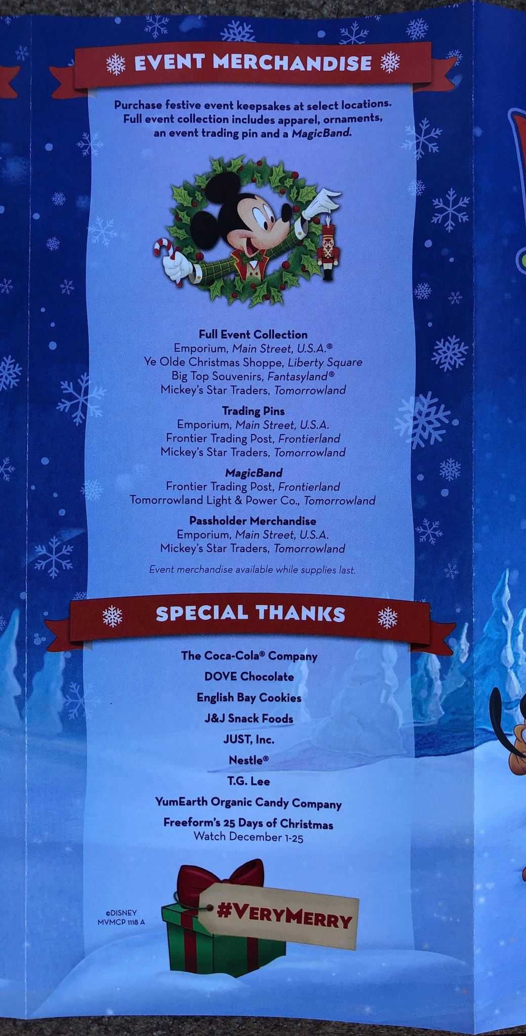 Mickeys Very Merry Christmas Party 2018 Map.Photos Map Released For Mickey S Very Merry Christmas Party