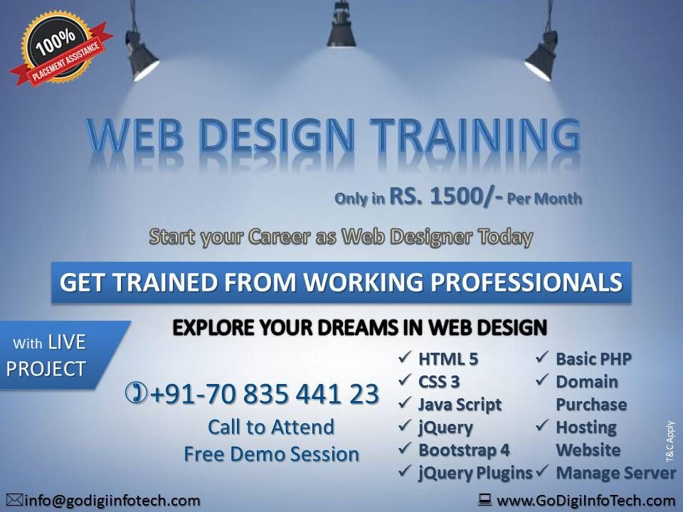 Offer Offer Offer Web Design Training Web Design Course Digital Marketing Training