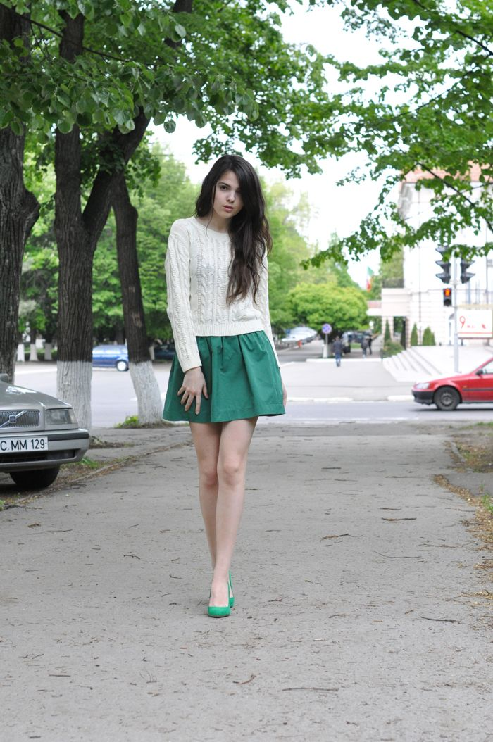 knitted sweater with skirt 2017