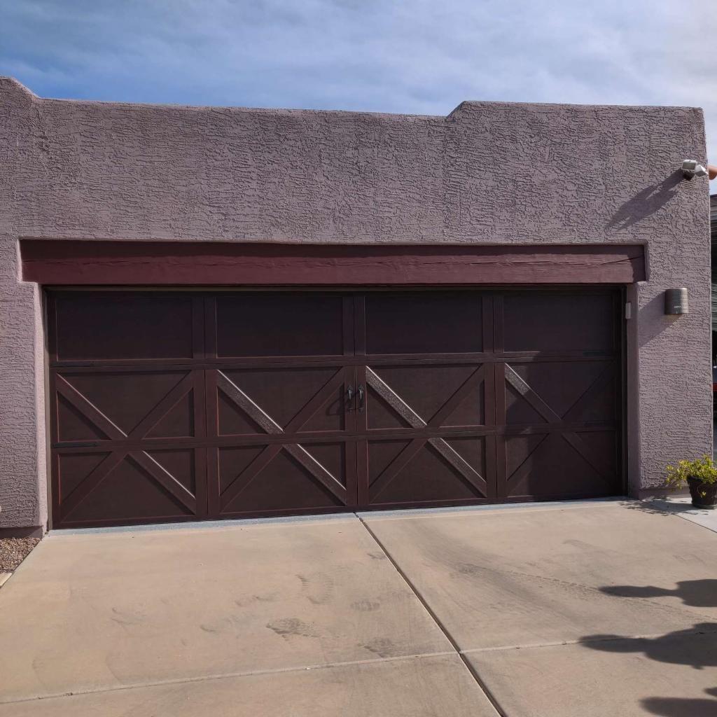 Faux Wood Garage Door In 2020 Garage Door Design Garage Doors Garage Door Panels