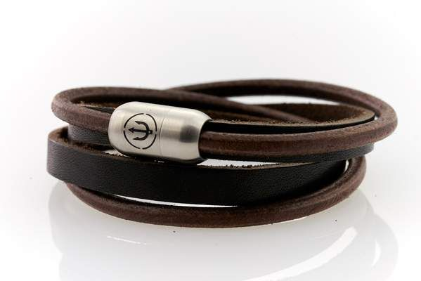 Captn Trident Steel 8 Double To Leather Engraving
