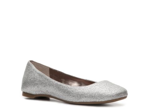 Steve Madden Starz Glitter Flat Silver And Perfect For