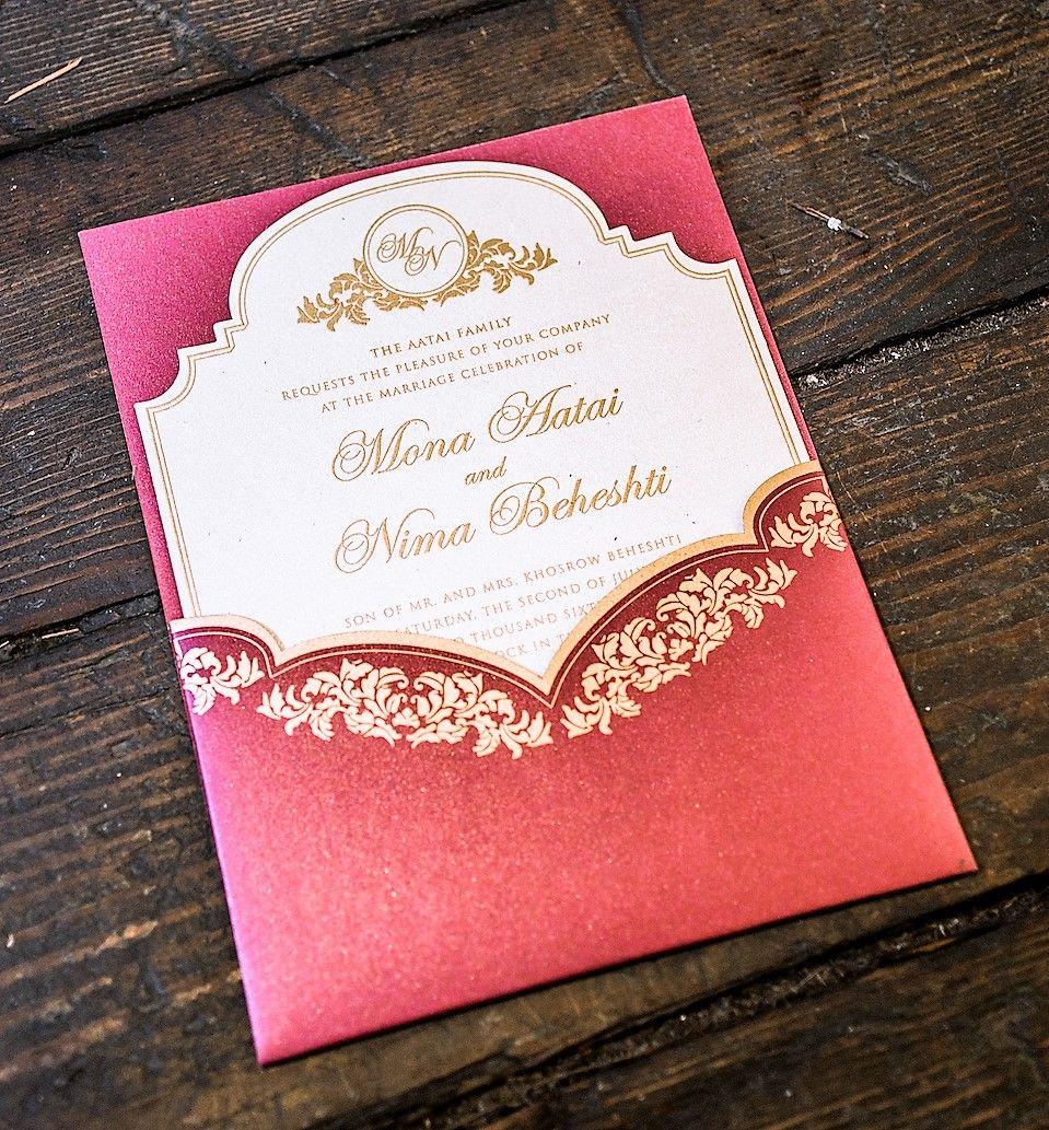 Paper Passionista\'s bride, Mona, chose this elegant invitation ...